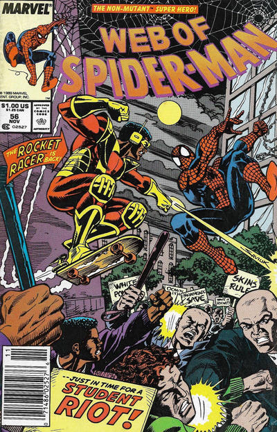 Cover for Web of Spider-Man (Marvel, 1985 series) #56 [Direct]