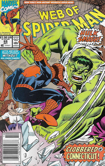 Cover for Web of Spider-Man (Marvel, 1985 series) #69 [Direct]