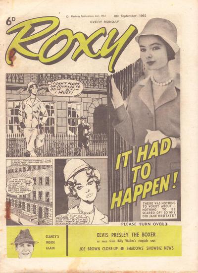 Cover for Roxy (Amalgamated Press, 1958 series) #8 September 1962 [235]