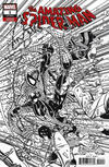 Cover for Amazing Spider-Man (Marvel, 2018 series) #1 (802) [Variant Edition - Erik Larsen Remastered Black and White Cover]