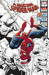 Cover for Amazing Spider-Man (Marvel, 2018 series) #1 (802) [Variant Edition - PX Previews Exclusive San Diego Comic Con 2018 - Ryan Ottley Black and White Wraparound Cover]