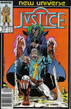 Cover for Justice (Marvel, 1986 series) #11 [Newsstand]