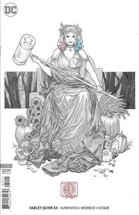 Cover Thumbnail for Harley Quinn (DC, 2016 series) #54 [Frank Cho Cover]