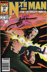 Cover Thumbnail for Nth Man the Ultimate Ninja (Marvel, 1989 series) #1 [Newsstand]