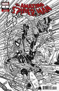 Cover Thumbnail for Amazing Spider-Man (Marvel, 2018 series) #1 (802) [Variant Edition - Erik Larsen Remastered Black and White Cover]