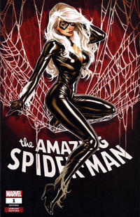 Cover Thumbnail for Amazing Spider-Man (Marvel, 2018 series) #1 (802) [Variant Edition - Comic Sketch Art Exclusive 'Black Cat' - Mark Brooks Cover]