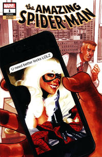 Cover Thumbnail for Amazing Spider-Man (Marvel, 2018 series) #1 (802) [Variant Edition - Comic Sketch Art Exclusive - Adam Hughes Cover]