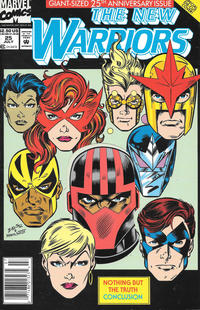 Cover Thumbnail for The New Warriors (Marvel, 1990 series) #25 [Newsstand]