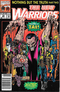 Cover Thumbnail for The New Warriors (Marvel, 1990 series) #23 [Newsstand]