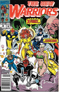 Cover Thumbnail for The New Warriors (Marvel, 1990 series) #19 [Newsstand]