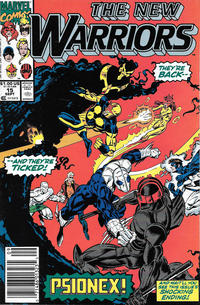 Cover Thumbnail for The New Warriors (Marvel, 1990 series) #15 [Newsstand]