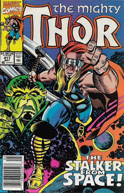 Cover for Thor (Marvel, 1966 series) #417 [Newsstand]