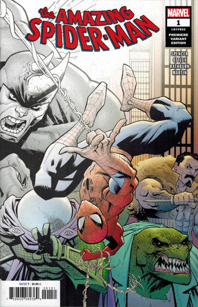 Cover for Amazing Spider-Man (Marvel, 2018 series) #1 (802) [Variant Edition - Second Printing - Ryan Ottley Cover]
