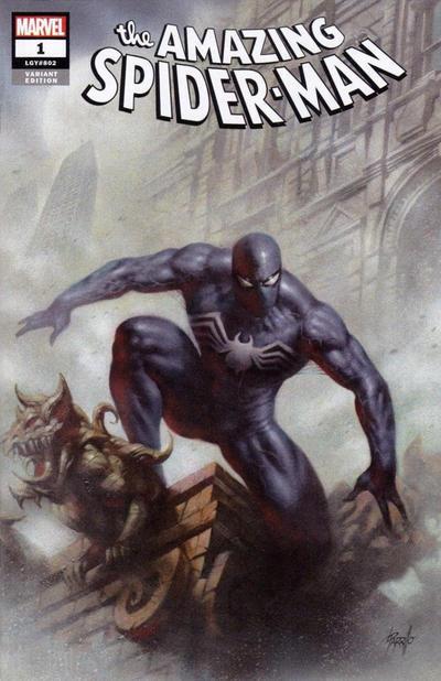 Cover for Amazing Spider-Man (Marvel, 2018 series) #1 (802) [Variant Edition - Sanctum Sanctorum Exclusive - Lucio Parrillo Virgin Cover]