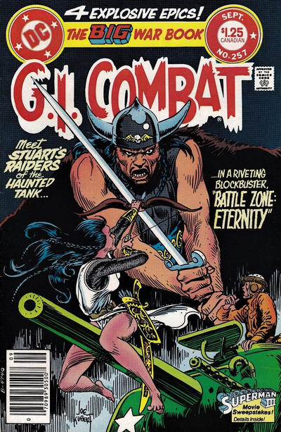 Cover for G.I. Combat (DC, 1957 series) #257 [Canadian]