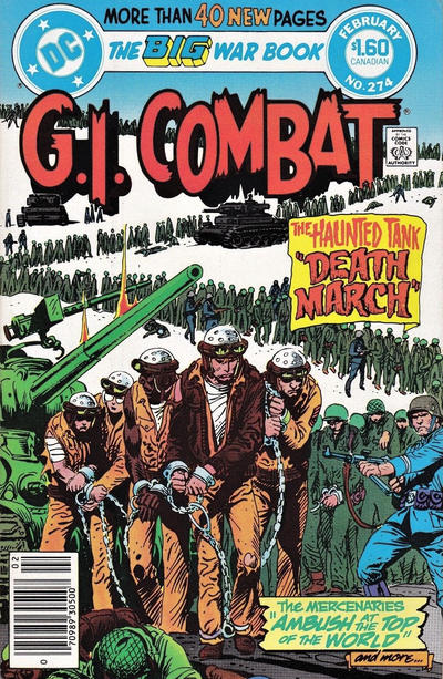 Cover for G.I. Combat (DC, 1957 series) #274 [Newsstand]