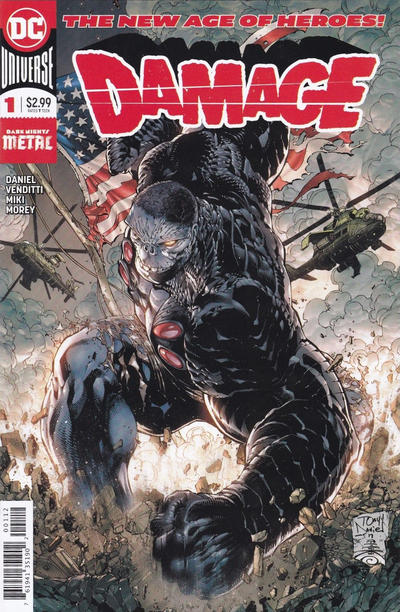 Cover for Damage (DC, 2018 series) #1 [Second Printing]