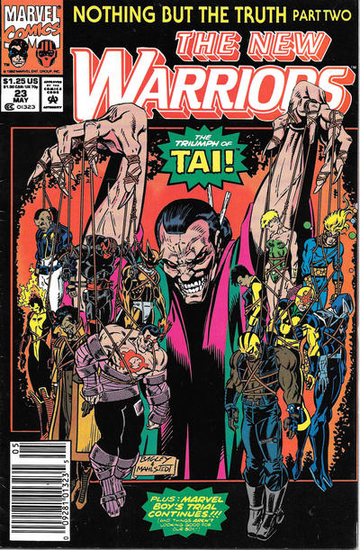 Cover for The New Warriors (Marvel, 1990 series) #23