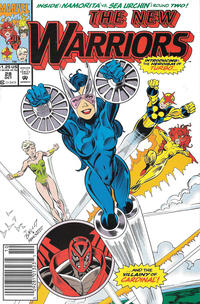 Cover Thumbnail for The New Warriors (Marvel, 1990 series) #28 [Newsstand]
