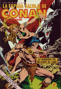 Cover Thumbnail for La Espada Salvaje de Conan el Bárbaro (Novedades, 1988 series) #53