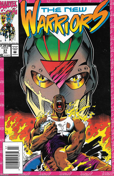 Cover for The New Warriors (Marvel, 1990 series) #37 [Newsstand]