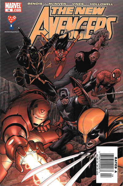 Cover for New Avengers (Marvel, 2005 series) #16 [Newsstand]