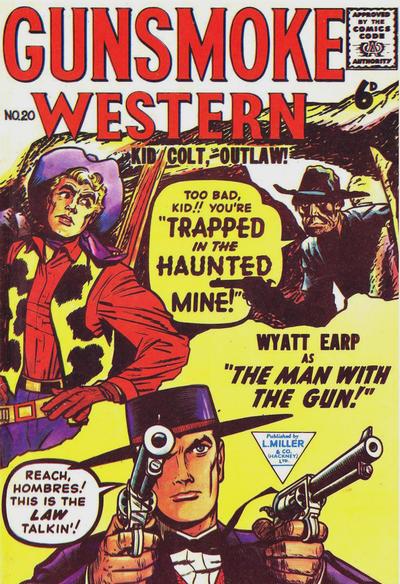 Cover for Gunsmoke Western (L. Miller & Son, 1955 series) #20