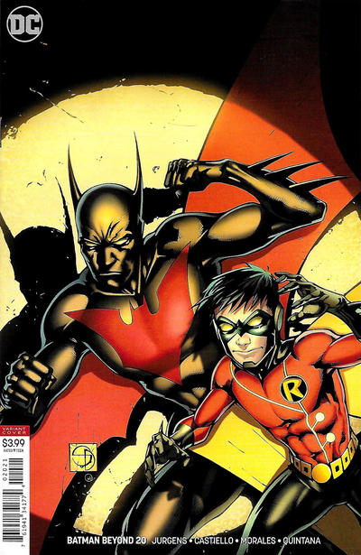 Cover for Batman Beyond (DC, 2016 series) #20 [Viktor Kalvachev Cover]