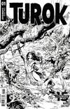 Cover for Turok (Dynamite Entertainment, 2019 series) #1 [Cover H Black and White Roberto Castro]