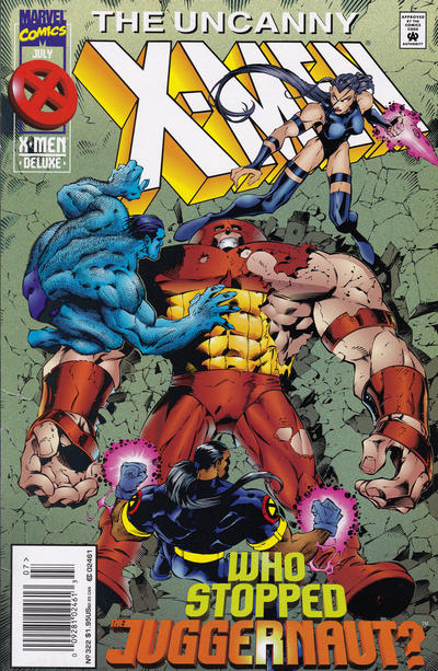 Cover for The Uncanny X-Men (Marvel, 1981 series) #322 [Newsstand]