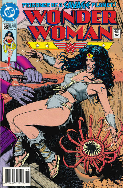 Cover for Wonder Woman (DC, 1987 series) #68 [Newsstand]