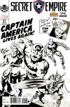 Cover for Secret Empire (Marvel, 2017 series) #1 [Mike Perkins 'Stan Lee Box' Black and White Exclusive]