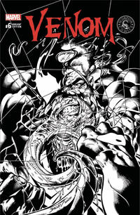 Cover Thumbnail for Venom (Marvel, 2017 series) #6 [Scorpion Comics Exclusive Mark Bagley Black and White]