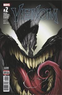 Cover Thumbnail for Venom (Marvel, 2017 series) #2 [Gerardo Sandoval 2nd Printing]