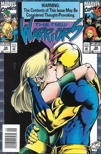 Cover Thumbnail for The New Warriors (Marvel, 1990 series) #39 [Newsstand]