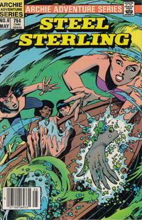 Cover Thumbnail for Steel Sterling (Archie, 1984 series) #6 [Newsstand]
