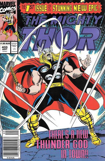 Cover for Thor (Marvel, 1966 series) #433 [Australian]