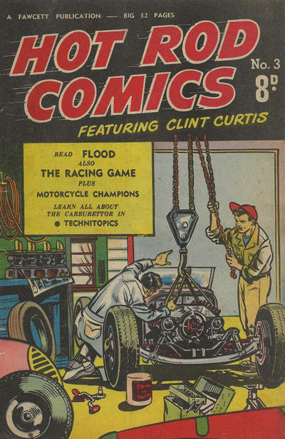 Cover for Hot Rod Comics (Cleland, 1950 ? series) #3