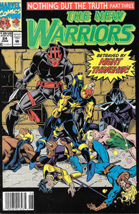 Cover Thumbnail for The New Warriors (Marvel, 1990 series) #24 [Newsstand]