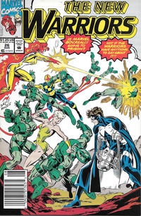 Cover Thumbnail for The New Warriors (Marvel, 1990 series) #26 [Newsstand]