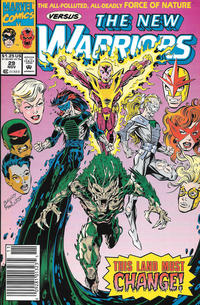 Cover Thumbnail for The New Warriors (Marvel, 1990 series) #29 [Newsstand]