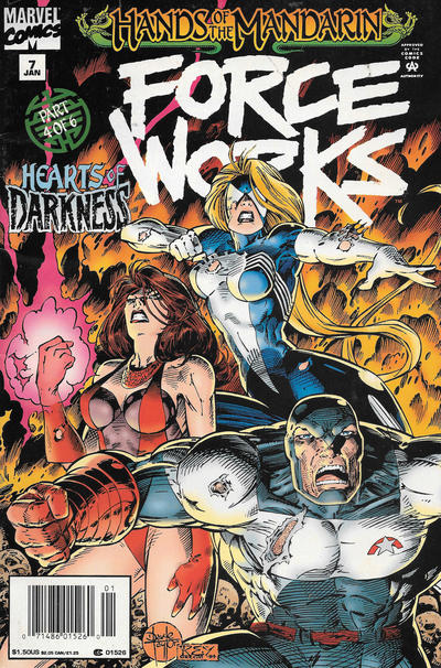 Cover for Force Works (Marvel, 1994 series) #7 [Direct Edition]