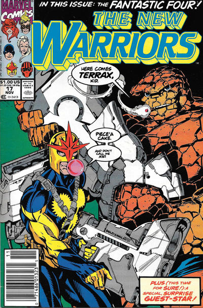 Cover for The New Warriors (Marvel, 1990 series) #17 [Newsstand]