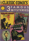 Cover Thumbnail for Classic Comics (1941 series) #21 - Three Famous Mysteries [HRN 22]