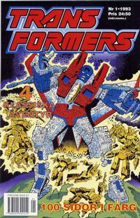 Cover Thumbnail for Transformers (Atlantic Förlags AB; Pandora Press, 1993 series) #1/1993