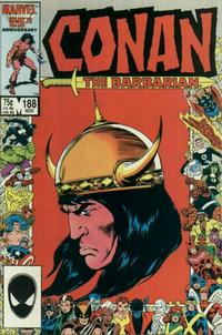 Cover for Conan the Barbarian (Marvel, 1970 series) #188 [Newsstand Edition]