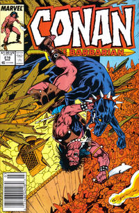 Cover Thumbnail for Conan the Barbarian (Marvel, 1970 series) #216 [Newsstand]