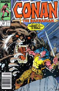 Cover Thumbnail for Conan the Barbarian (Marvel, 1970 series) #220 [Newsstand]
