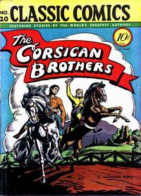 Cover Thumbnail for Classic Comics (Gilberton, 1941 series) #20 - The Corsican Brothers