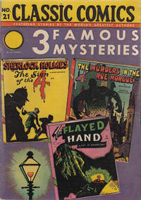 Cover Thumbnail for Classic Comics (Gilberton, 1941 series) #21 - Three Famous Mysteries [HRN 22]